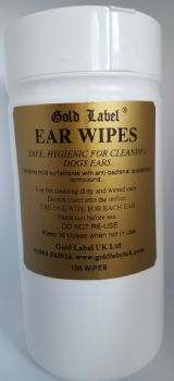 100 Pre-moistened Ear Wipes for Dogs